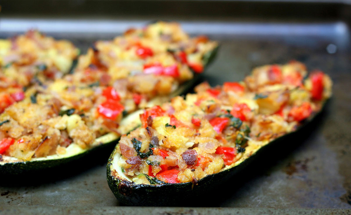 Geliefde Suusjes Linke Soep - receptenblog: Vegetarische Gevulde Courgette #XG43