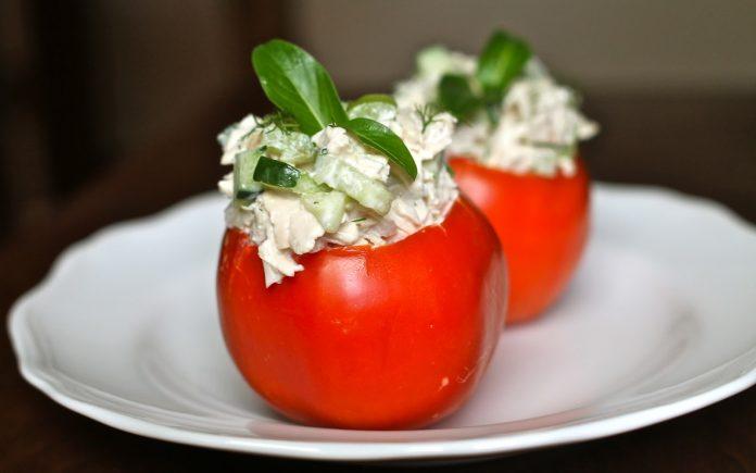 tomaatjes met geitenkaass