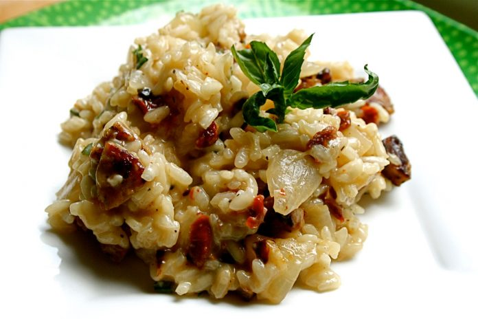 risotto-met-kip-en-champignons