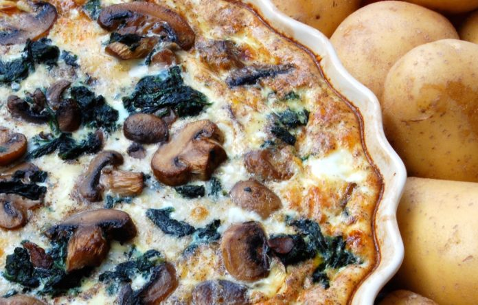 champignon-en-spinazie-quiche