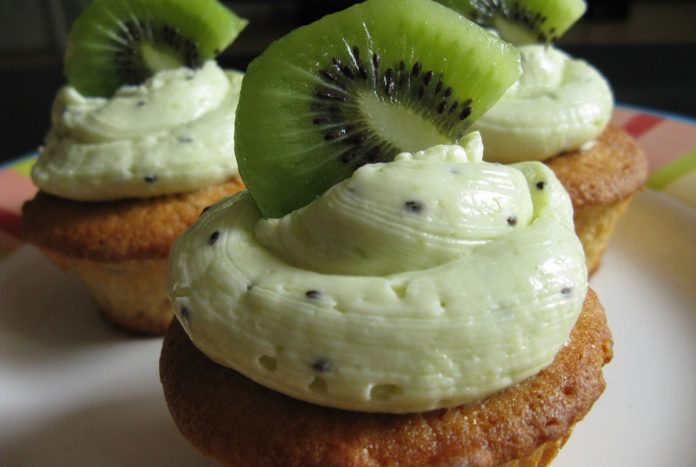 kiwi-vanille-cupcakes
