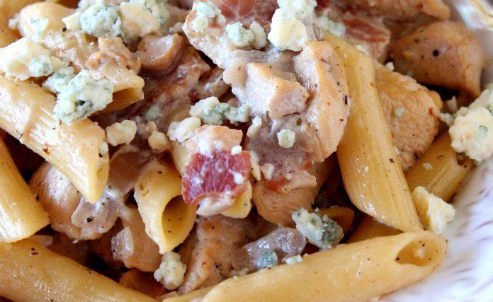 pasta-met-blauwe-kaas-en-bacon