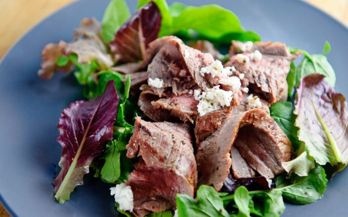 salade-met-steak-en-geitenkaas