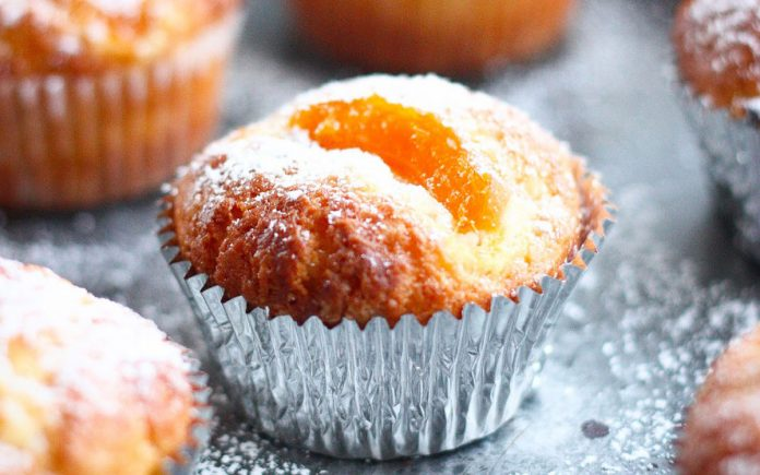 abrikozen-roomkaas-cupcake