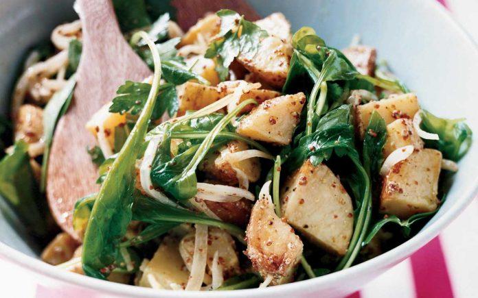 aardappel-rucola-salade