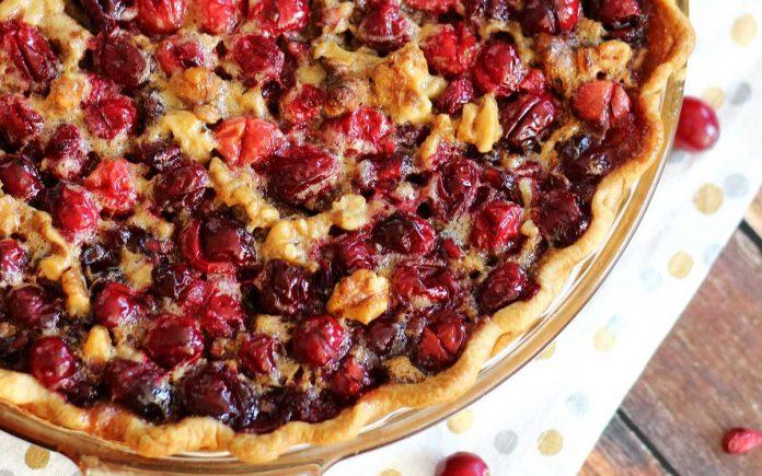 cranberry-granaatappel-taart