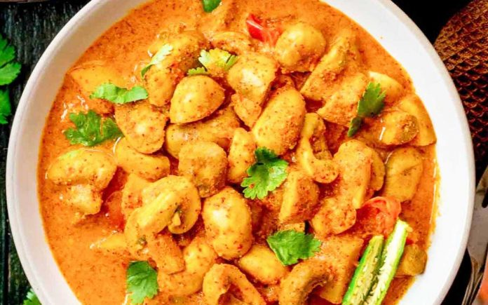 champignons-in-pittige-curry