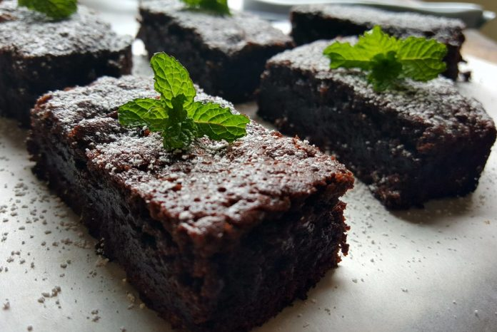 chocolade-mint brownies recept