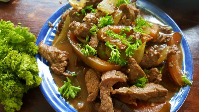 Overheerlijke rundvlees reepjes