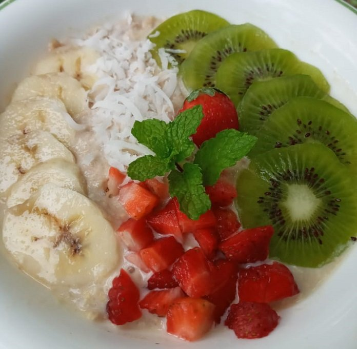 Oats met fruit